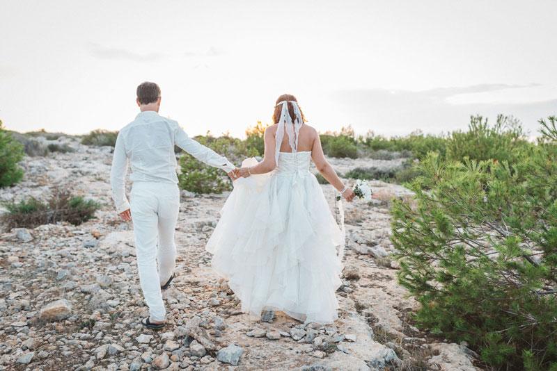 Brautpaar auf Insel