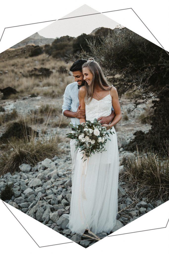 Brautpaar nach freie Trauung
