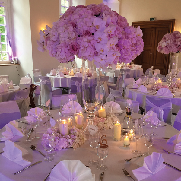 Tischdekoration bei Hochzeiten