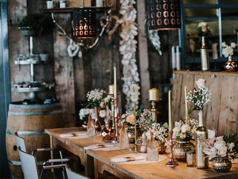 Hochzeitstisch im Strandpavillion Holland