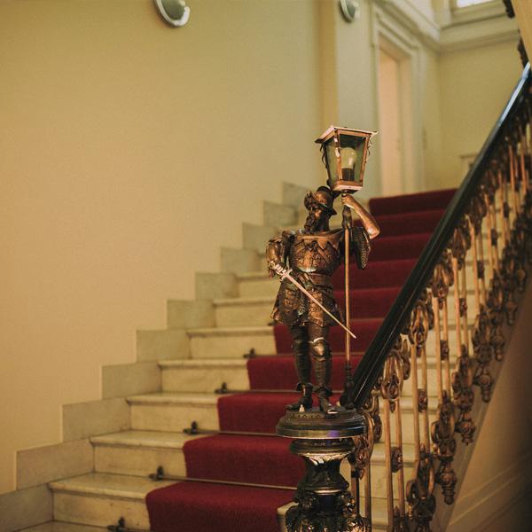Treppenraum der Villa Kalles