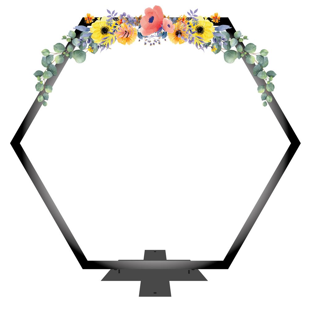 sechseckiger Traubogen Hochzeitszeremonie
